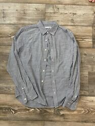 Outerknown Size Small Men's Long Sleeve Pinstripe Button Down Shirt $28.00