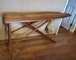 Antique Vintage Wooden Ironing Board Folding Table Primitive 54x32