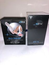 Hidow Acuxpd 12 Tens Massager/ems Electric Muscle Stimulator W Acu Gloves Micro