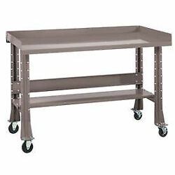 Shureshopand174 Mobile Bench W/acc Kit Stainless Steel Top 72x29 Pewter