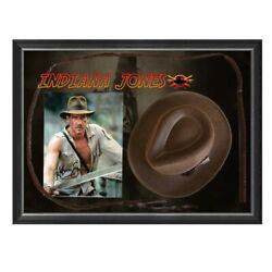 Indiana Jones Signed And Framed Photograph With Hat And Whip Harrison Ford