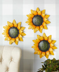 Outdoor Metal Wall Flowers Sculptures Daisies or Sunflowers