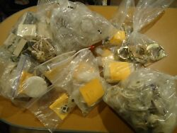 Over 125 Pieces Telephone Related Items Bell Western Elec. Plugs And Plates Etc.