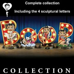 Betty Boop Complet Collection Set Of 4 Illuminated Marquee Letter Sculpture