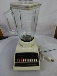 Vintage Osterizer Pulse Matic 10 Speed Blender Electric 5 Cup Glass Container