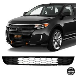 Fits 11-14 Ford Edge Front Bumper Lower Grille Black W/o Adaptive Cruise Control