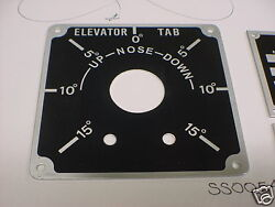 1930and039s And 1940and039s Boeing Stearman Elevator Trim Plate Acid Etched Aluminum