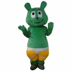 Halloween Lovely Green Bear Mascot Costume Cosplay Party Clothing Carnival Adult