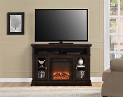 Ameriwood Home Tv Stand Media Console For Tvs Up To 50 With Fireplace, Espresso