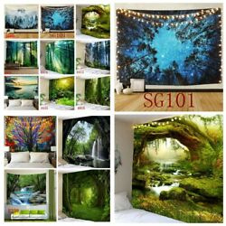US Scenery Tapestry Hippie Wall Hanging Forest Tree Tapestry Wall Art Home Decor