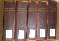 Rare Lot Of Antique Books Monks Of The West Montalembert 5 Volumes Hardcover