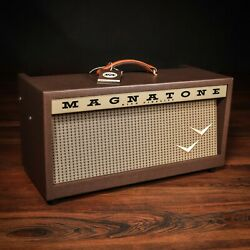 Magnatone Panoramic Stereo 12+12w Reverb/vibrato Tube Head W/ Footswitch And Cover