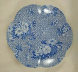 Spode Blue Room Collection Primula Blue And White Floral Scalloped Bowl