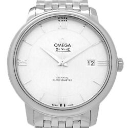 Auth Omega Watch De Ville Co-axial 424-10-40-20-02-003 Automatic Case 39.5mm F/s