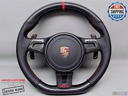 Porsche 911 997 991 958 Cayenne Panamera 10 Red Perfor Carbon Steering Wheel V3
