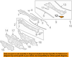 55784-48020 Toyota Pad, Cowl Top Silencer, Lh 5578448020