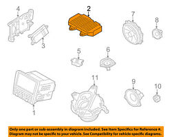 Porsche Oem 09-12 Boxster Global Positioning System-booster 7pp035223aa