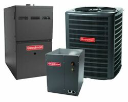 Goodman 3 Ton 15 Seer Air Conditioner Bundle Gsx160361 Capf4860c6 Gmec800804bn