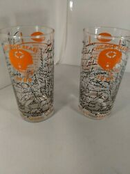 2-1964 Chicago Bears Nfl Team Autographs Drinking Glasses