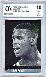 1993-94 Classic Images Shaquille Oand039neal Rookie Rc 128 /6500 Bccg 10 - Qty
