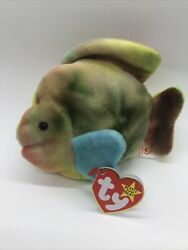 Original Beanie Babies Coral The Fish 1995 Retired Mint With Tags Rare Ty Pvc