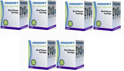 300 Prodigy No Coding Blood Glucose Test Strips 6 Boxes Exp March 2023