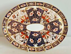 Rare Royal Crown Derby 2451 Or Traditional Imari Oval Tray - Date Code 1913