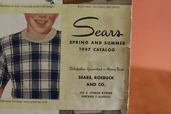 Vintage Sears, Roebuck And Company Spring Summer 1947 Catalog 1,250 Pages Chicago
