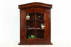 Tabletop Or Wall Hanging Mahogany Vintage Display Cabinet, Medicine Chest 37262