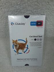 ClueJay Cat Stool Fecal Test Level 1 Worms Collect amp; Mail from Home Sealed