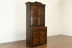Farmhouse Country Pine Antique Grain Painted Kitchen Pantry Cupboard 36517