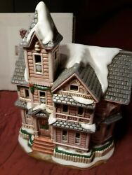 Signed Lefton Colonial Christmas Village 00716 The Kirby House 1992 Very Rare