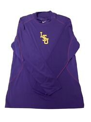 Lsu Tigers Nike Baseball Shirt Team Issued Pro Combat Fitted Jacket Warm 3