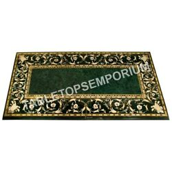 5and039x3and039 Marvelous Marble Outdoor Dining Table Top Pietra Dura Inlay Decor E588a