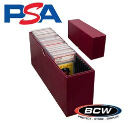 Bcw Slotted Graded Card Box For Psa Certified Slabs Storage Case Mtg Pokemon ++