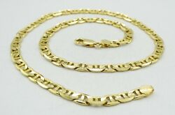 14k Yellow Gold Dia Cut Well Polished Mariner Necklace Italian 18 27.5g S2365