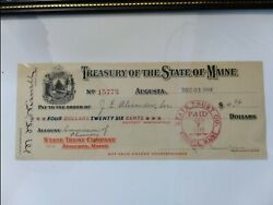Antique Bank Note Signed By Secretary Of State J.e. Alexander 1914 Front/reverse