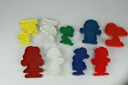 Vintage Peanut Character Cookie Cutters, Charlie Brown, Lucy, Linus And Snoopy