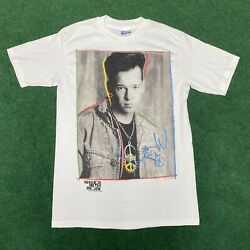 Vintage 1989 New Kids On The Block Donnie Mark Wahlberg Single-stitch T-shirt M