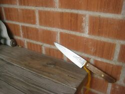 Vintage 6 Blade Ontario X-small Hammer Forged Carbon Chef Knife Usa