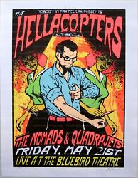 The Hellacopters Concert Poster 1999 Lindsey Kuhn