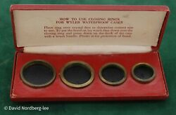 Wyler Case Closing Rings For Waterproof Cases, Watchmakers, Watchmaking Tools