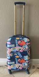 Disney Mickey And Minnie Mouse American Tourister 19 Hard Shell Spinner Luggage