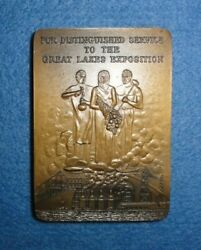 1937 Great Lakes Exposition Medal, For Distinguished Service To The Exposition