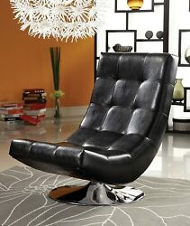Furniture Of America Graham Leatherette Armless Swivel Chair Black/red/white