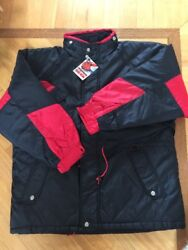Marlboro Unlimited Gear Nos Warm Quilted Lined Nylon Coat Jacket Xl