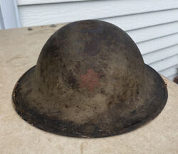 Rare Marked Ww1 Us Army Doughboy Helmet 6th Infantry Division Sight-seeing 6th