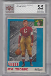 1955 Topps All-american Jim Thorpe 37 Bgs 5.5 Excellent Great Investment Piece