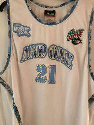 Nwot Rare And 1 Mixtape Tour Jersey Mountain Dew Core Red Flash Antoine Howard