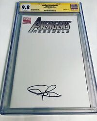 Cgc 9.8 Ss Avengers Assemble 1 Sketch Variant Signed By Jeremy Renner Hawkeye